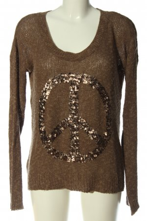key largo girls Rundhalspullover bronzefarben Casual-Look