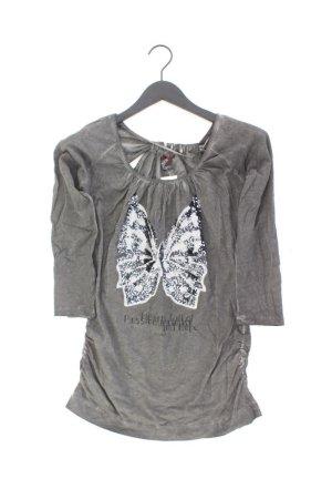 Key Largo Girls Shirt Größe M 3/4 Ärmel mit Pailletten braun aus Baumwolle
