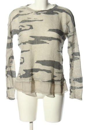 key largo girls Strickpullover wollweiß-hellgrau Camouflagemuster Casual-Look
