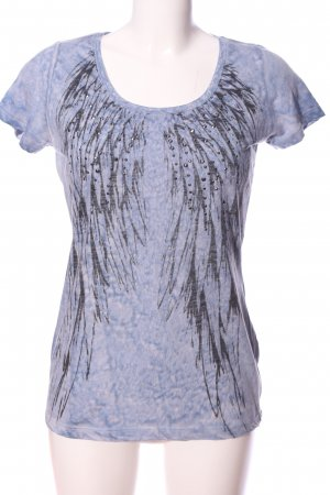 key largo girls T-Shirt blau-schwarz abstraktes Muster Casual-Look
