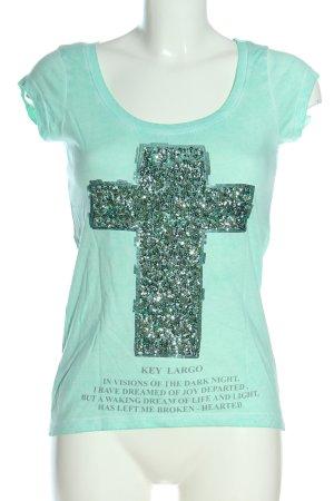 key largo girls T-Shirt türkis Motivdruck Casual-Look