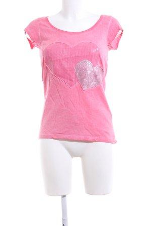 key largo girls T-Shirt pink-silberfarben meliert Casual-Look