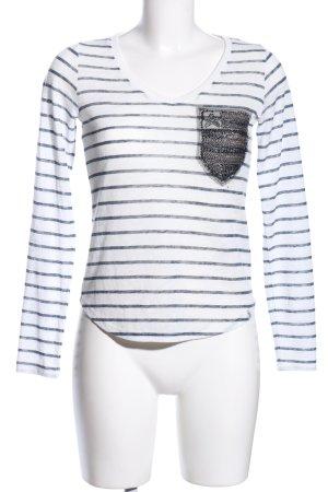 key largo girls V-Ausschnitt-Pullover weiß-blau Streifenmuster Casual-Look