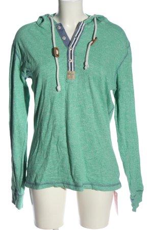 Key Largo Top à capuche turquoise style décontracté