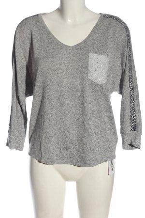 Key Largo Pull kimono gris clair moucheté style décontracté