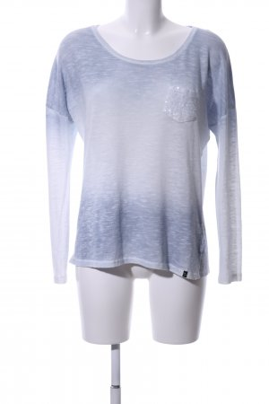 Key Largo Oversized Pullover blau-weiß grafisches Muster Casual-Look