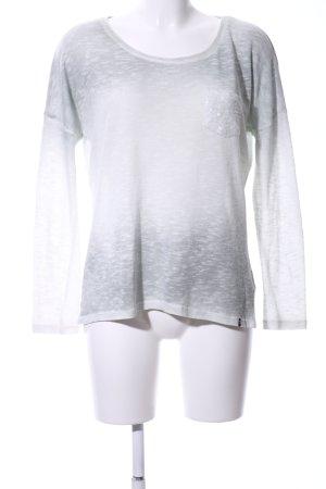 Key Largo Oversized Pullover weiß-hellgrau Farbverlauf Casual-Look