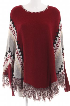 Key Largo Poncho grafisches Muster Casual-Look