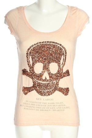 Key Largo Print-Shirt creme Motivdruck Casual-Look