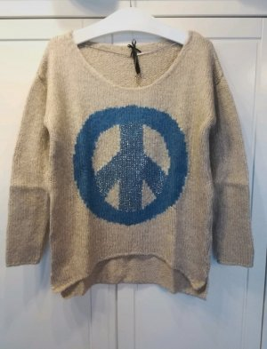Key Largo Wool Sweater cream-cornflower blue