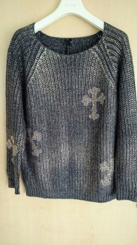 Key Largo Sweter z grubej dzianiny antracyt-w kolorze różowego złota