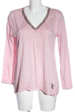 Key Largo Longsleeve pink meliert Casual-Look
