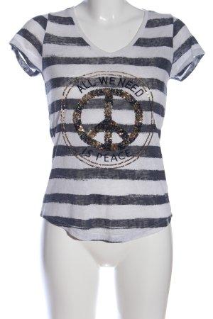 Key Largo Strickshirt Schriftzug gedruckt Casual-Look