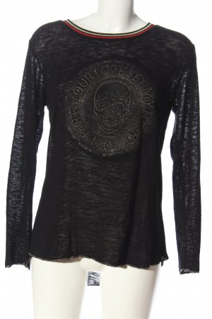 Key Largo Strickshirt schwarz meliert Casual-Look