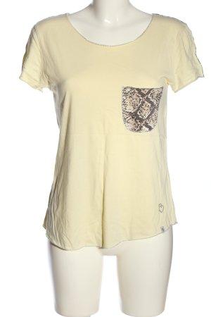 Key Largo T-Shirt wollweiß Animalmuster Casual-Look