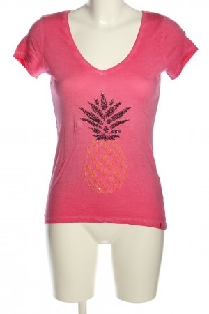 Key Largo T-Shirt pink grafisches Muster Casual-Look