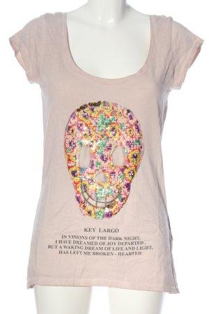 Key Largo T-Shirt pink Schriftzug gedruckt Casual-Look