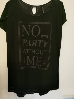 Key Largo T-Shirt mit Frontprint und Glitzer Gr. L