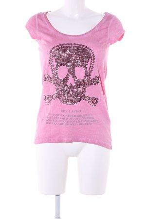 Key Largo T-Shirt pink-hellgrau Casual-Look