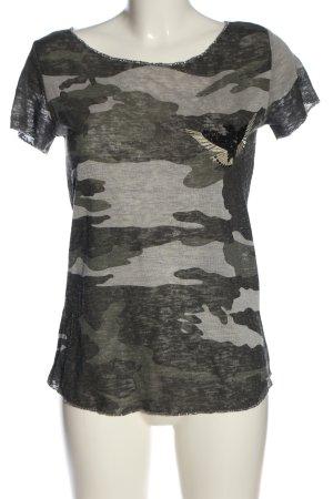 Key Largo U-Boot-Shirt Allover-Druck Casual-Look