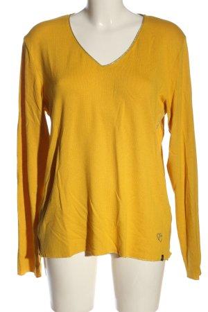 Key Largo V-Ausschnitt-Pullover blassgelb Casual-Look