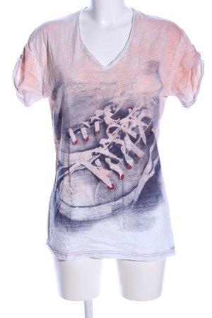 Key Largo V-Ausschnitt-Shirt Farbverlauf Casual-Look