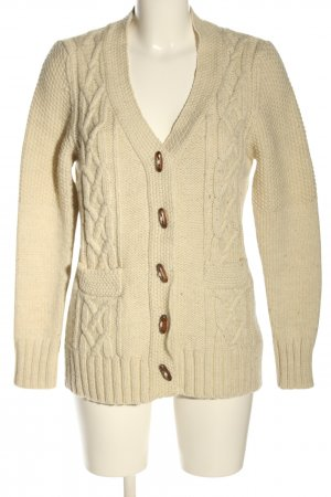 Key West Coarse Knitted Jacket cream cable stitch casual look