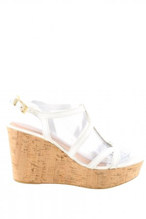 Keys Wedge Sandals brown-white casual look