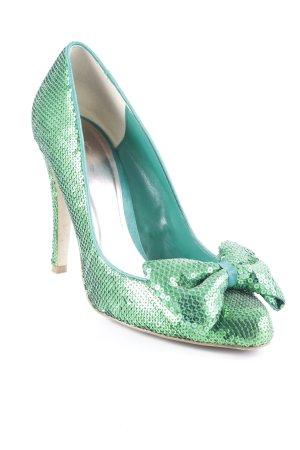 KG High Heels grün extravaganter Stil