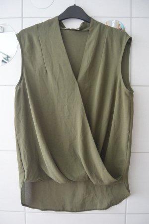 Khaki Bluse gr.38 von Koton
