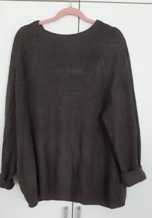 Khaki brauner Pullover