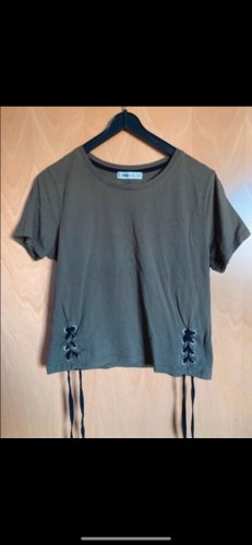 New Yorker Camisa recortada caqui-gris verdoso