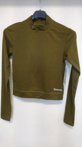 khaki Cropp Rollkragen Pullover von Bench Gr. S neu mit Etikett