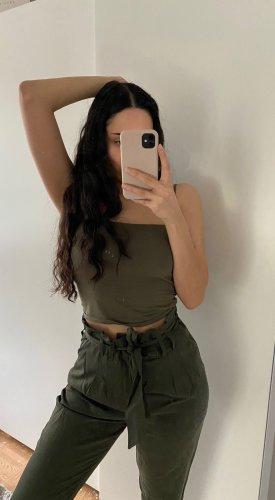 khaki culottes
