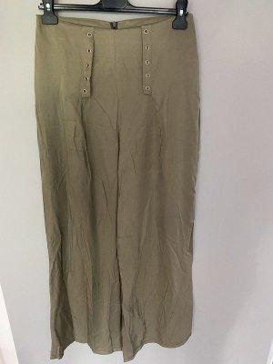 Khaki farbene Hose / Hosenrock, Gr. S/M