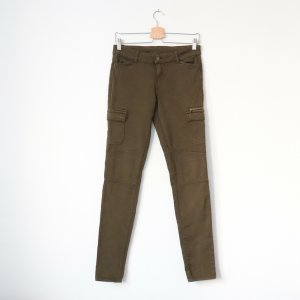Clockhouse Low-Rise Trousers green grey