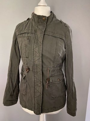 Denim Co. Military Jacket ocher-green grey mixture fibre