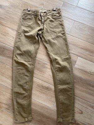 Khaki farbene Jeans von Zara Woman, Gr. 36