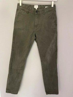 Khaki farbene Stoffhose / Hose von H&M, Gr. 28
