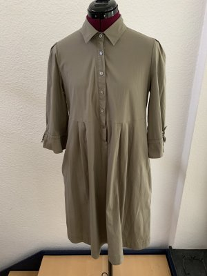 Khaki Farbenes Hemd Blusen Kleid