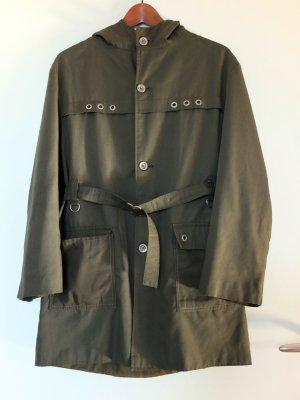 Short Coat khaki-olive green mixture fibre