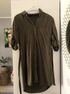 Khaki Hemdkleid