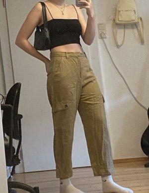 Zara Spodnie khaki khaki-camel