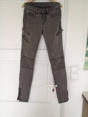 Khaki Jeans mit Reißverschlüssen von Selected Femme