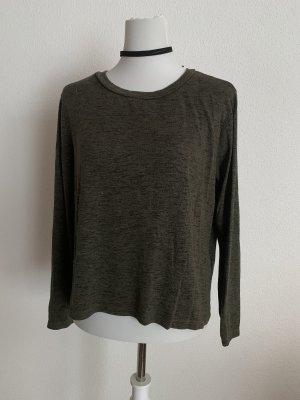 khaki pullover mit Schnürung