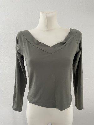 Koszula typu carmen zielono-szary-khaki