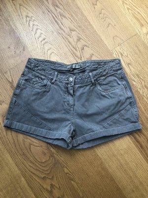Promod Pantalón corto de tela vaquera gris verdoso-caqui