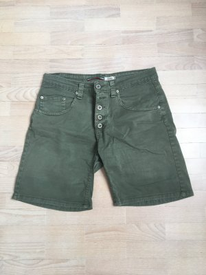 Khaki Shorts mit Knopfleiste