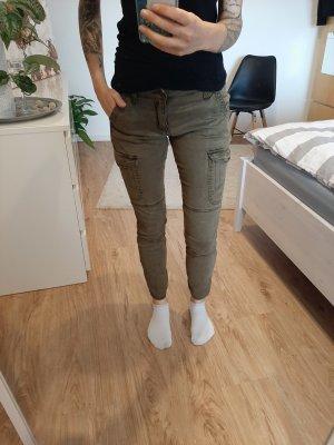 Khaki Stoffhose von H&M Größe 38