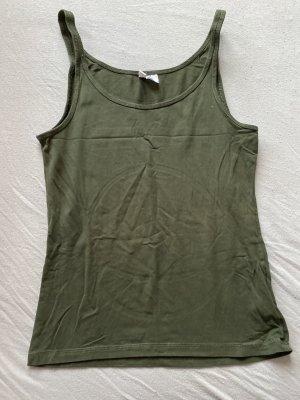 H&M Basic topje khaki